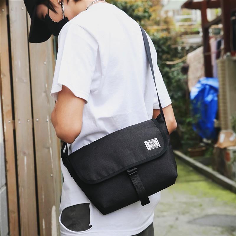 Simple Casual Shoulder Bag Male Japanese-style Shoulder Canvas Bag Men And Women Students Messenger Bag Sports Literature And Art Men Bags