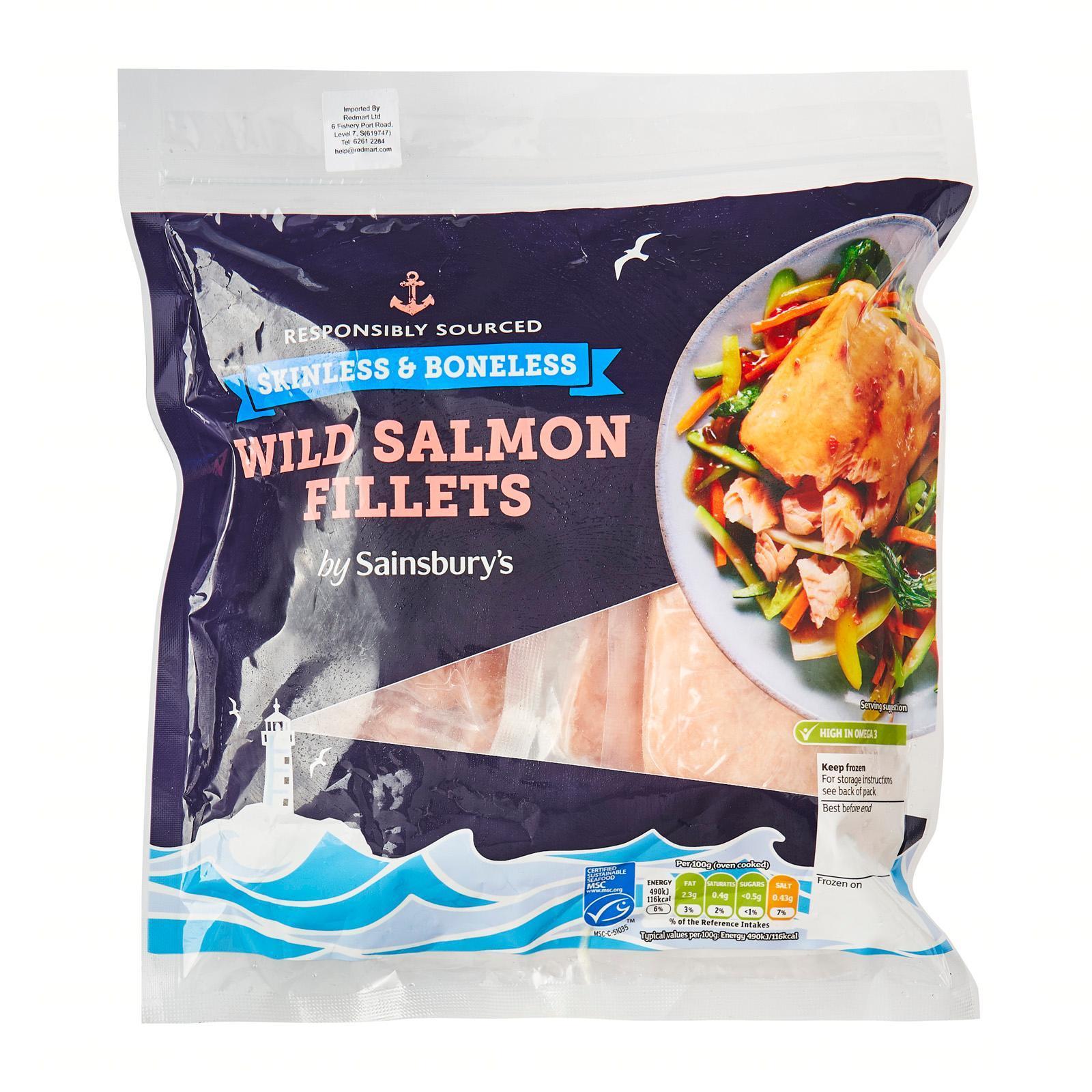 Sainsbury's Salmon Fillets - Frozen