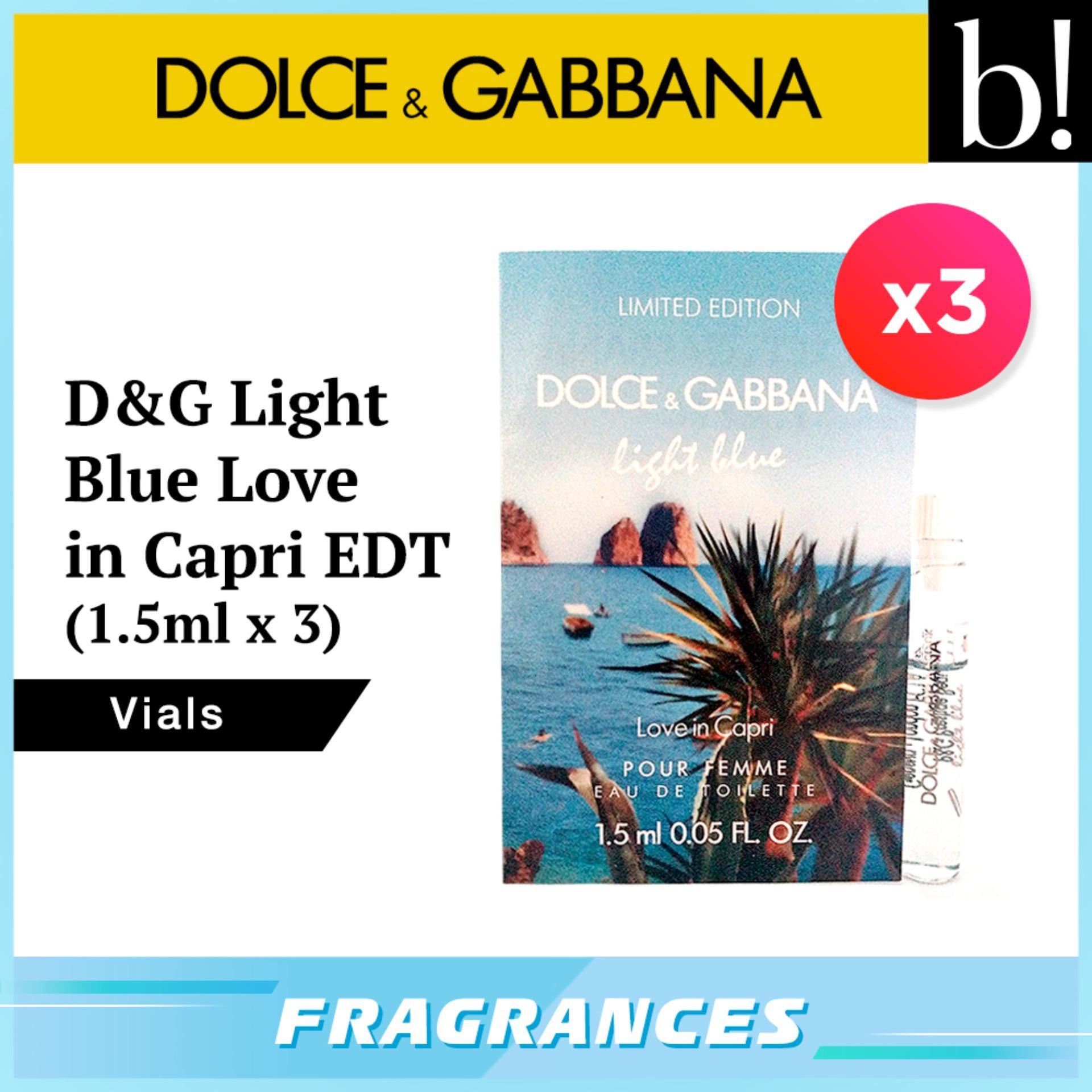 3d28c15a76d Dolce   Gabbana Light Blue Love in Capri EDT   Dolce Rosa Excelsa EDP 1.5ml