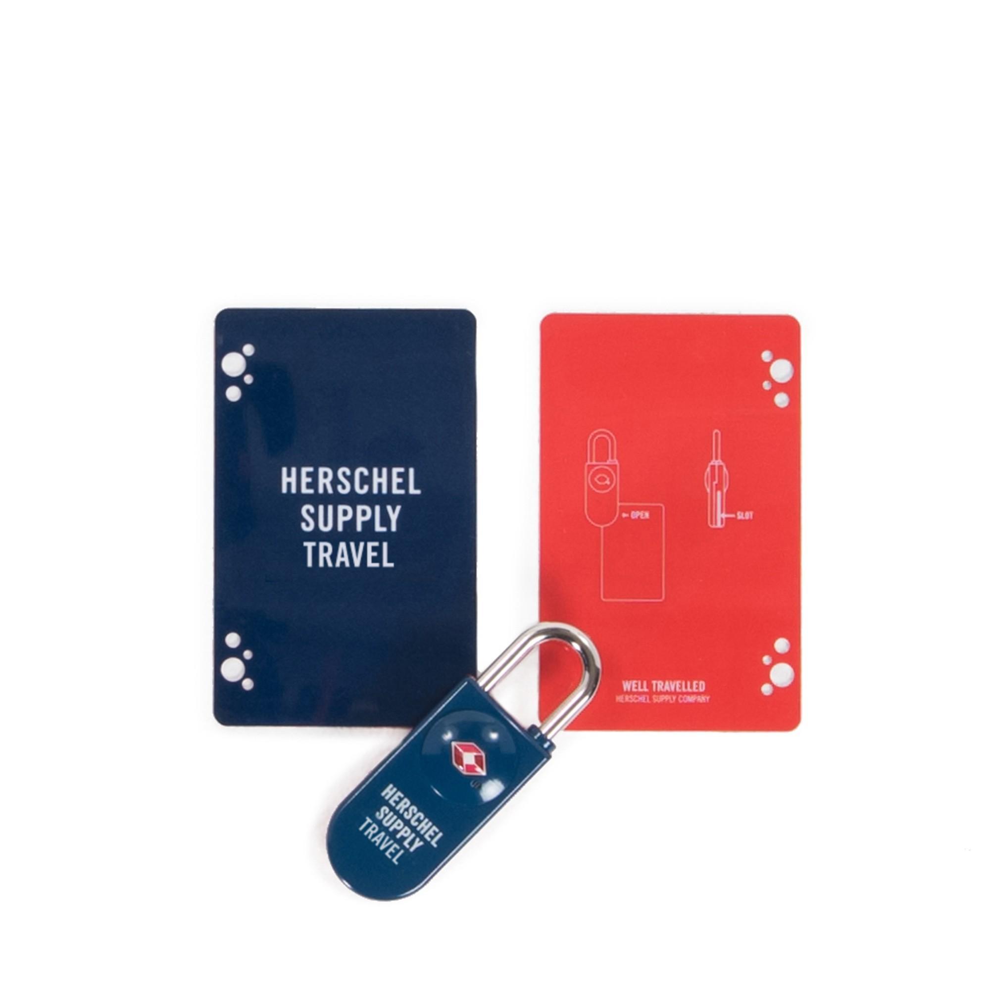 Herschel Tsa Card Lock - Navy/red By Herschel Official Store.