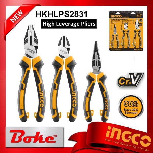 INGCO I-HKHLPS2831 3pcs high leverage pliers set