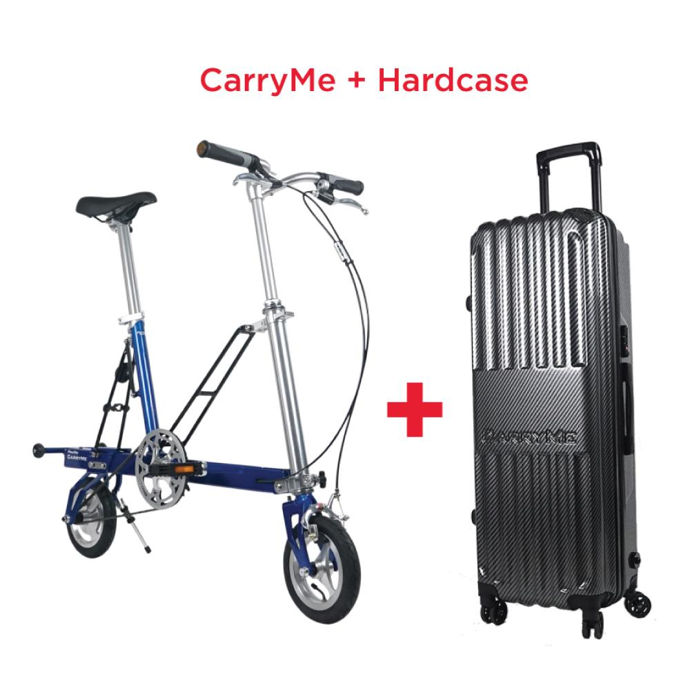 Carryme Sd Folding Bicycle With Travel Luggage ⭐️ With Free Gifts Worth $126 ⭐️ By Mighty Velo.