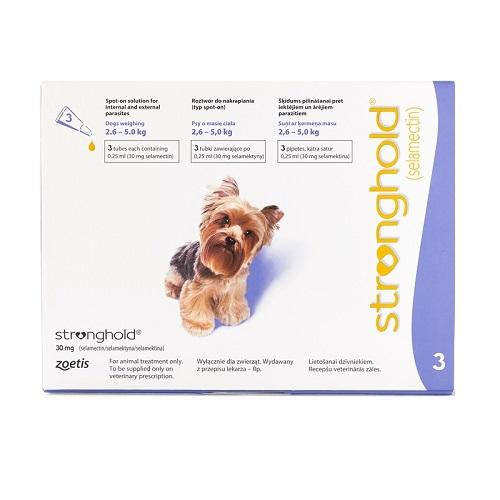 Stronghold (revolution) Small Dogs 2.6-5 Kg, 3 Doses By Singpet.