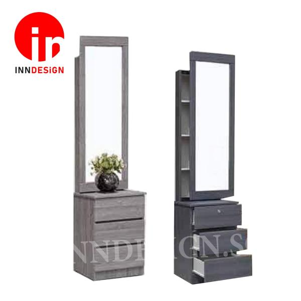 [Delivery Within 3-7 Working Days] Albernt II Full View Mirror Sliding Dressing Table (Free Delivery and Installation)