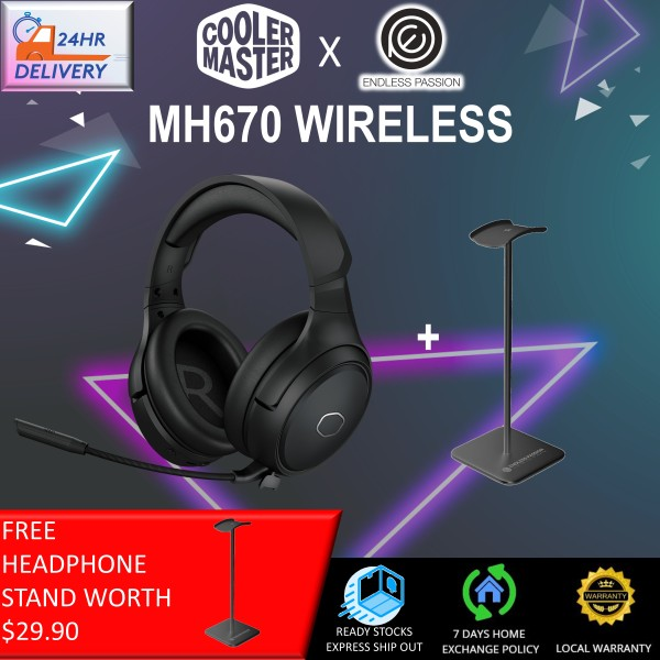 Cooler Master MH670 Gaming Headset with 2.4GHz Wireless, Virtual 7.1 Surround Sound, and Multi-Platform Compatibility [24 hours delivery]