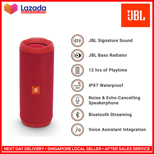 ✔ JBL Flip 4 Waterproof Portable Bluetooth Speakers Travel Bass Music Player Support Mobile Phone Samsung iPhone Oppo Xiaomi Singapore