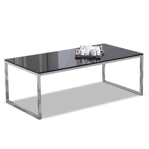 JIJI (Commerciall Black Tempered Glass Coffee Table) (Free Installation) / Coffee Table / Office Coffee Table / Tempered Glass Table / 12 Month Warranty / (SG)