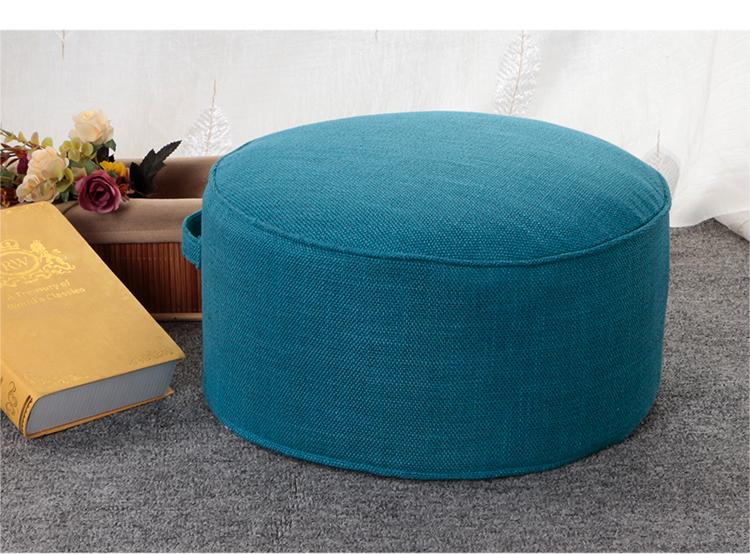 Cotton Linen Fabric Futon Throw Pillow Tatami Floor Bay Window Stool Thick Circle Washable Tea Ceremony Throw Pillow By Taobao Collection.