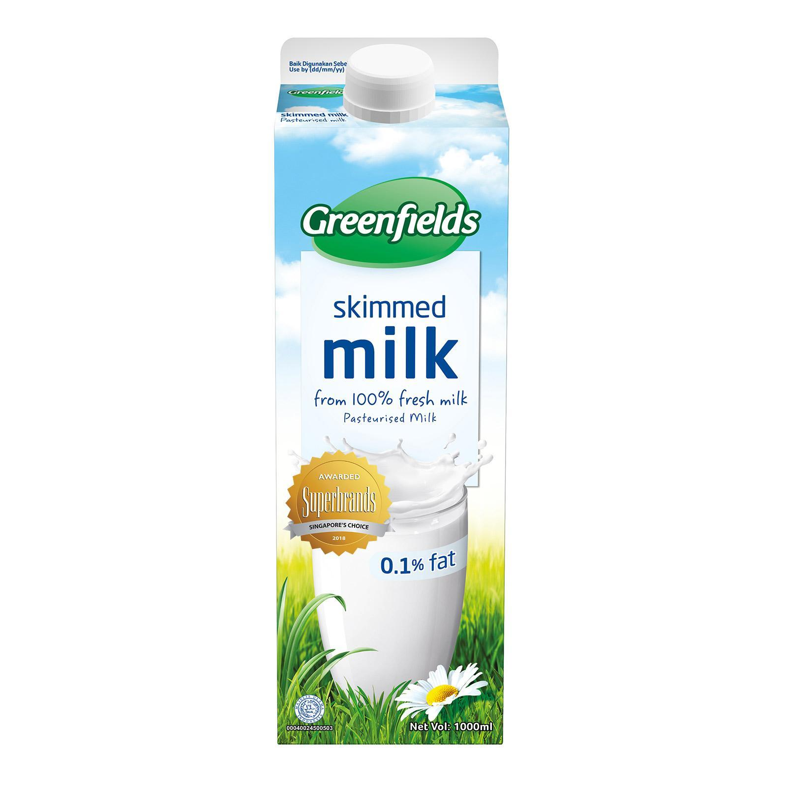 Greenfields Skim Milk By Redmart.