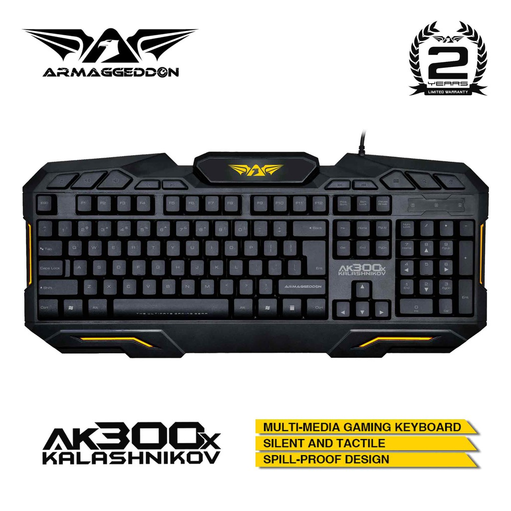 Armaggeddon Kalashnikov AK300x USB Multimedia Membrane Gaming Keyboard Singapore