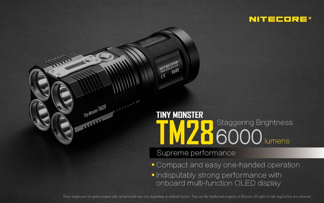 Nitecore TM28 Tiny Monster Rechargeable LED Flashlight (6000 Lumens)