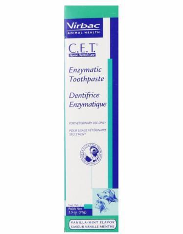 Virbac C.e.t. Enzymatic Dog Toothpaste 70g (vanilla Mint) By Perromart