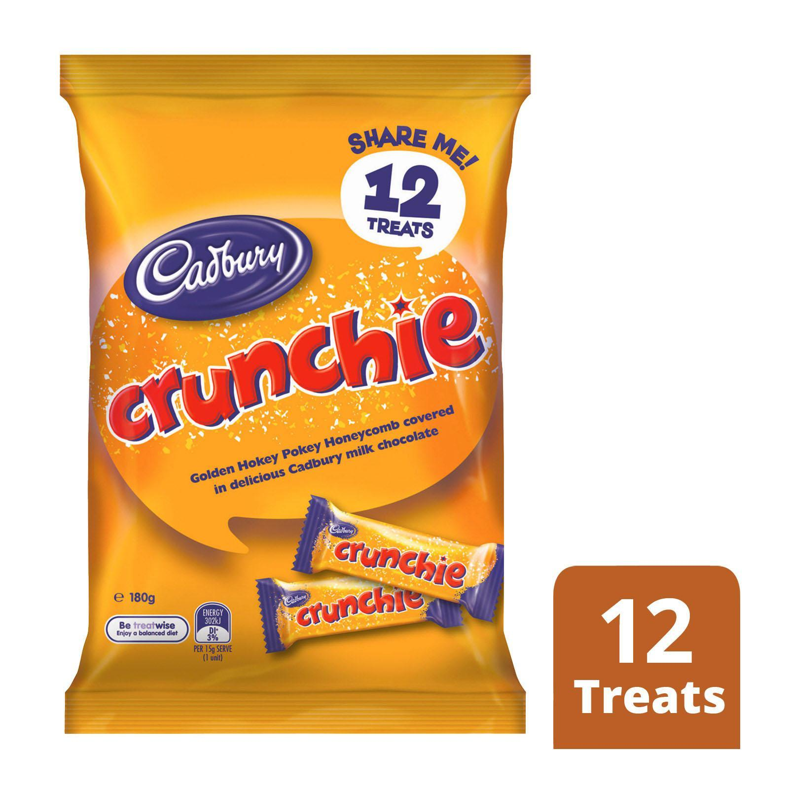 Cadbury Dairy Milk Crunchie Honeycomb Milk Chocolate Bar - Multipack