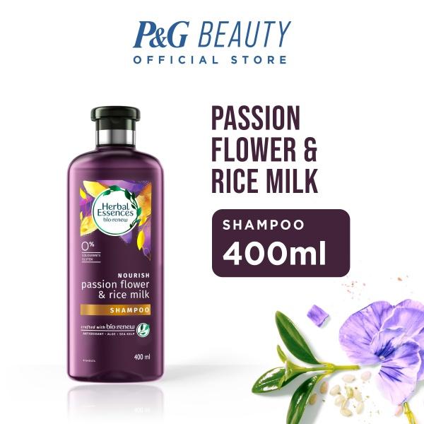 Buy Herbal Essences Nourish Passion Flower & Rice Milk Shampoo 400ml Singapore