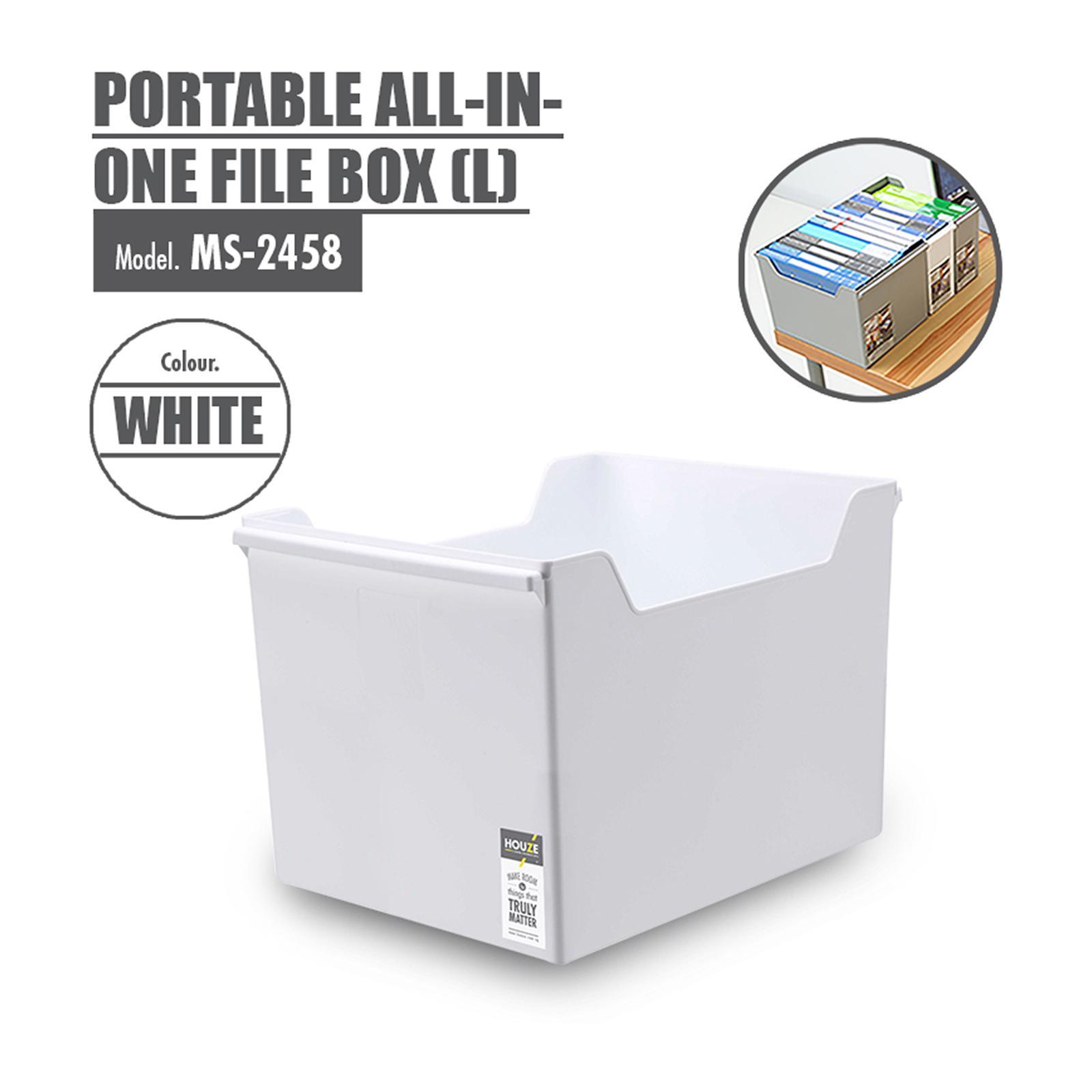 HOUZE Portable All-In-One File Box (L) (Dim: 35 x 26 x 24cm)
