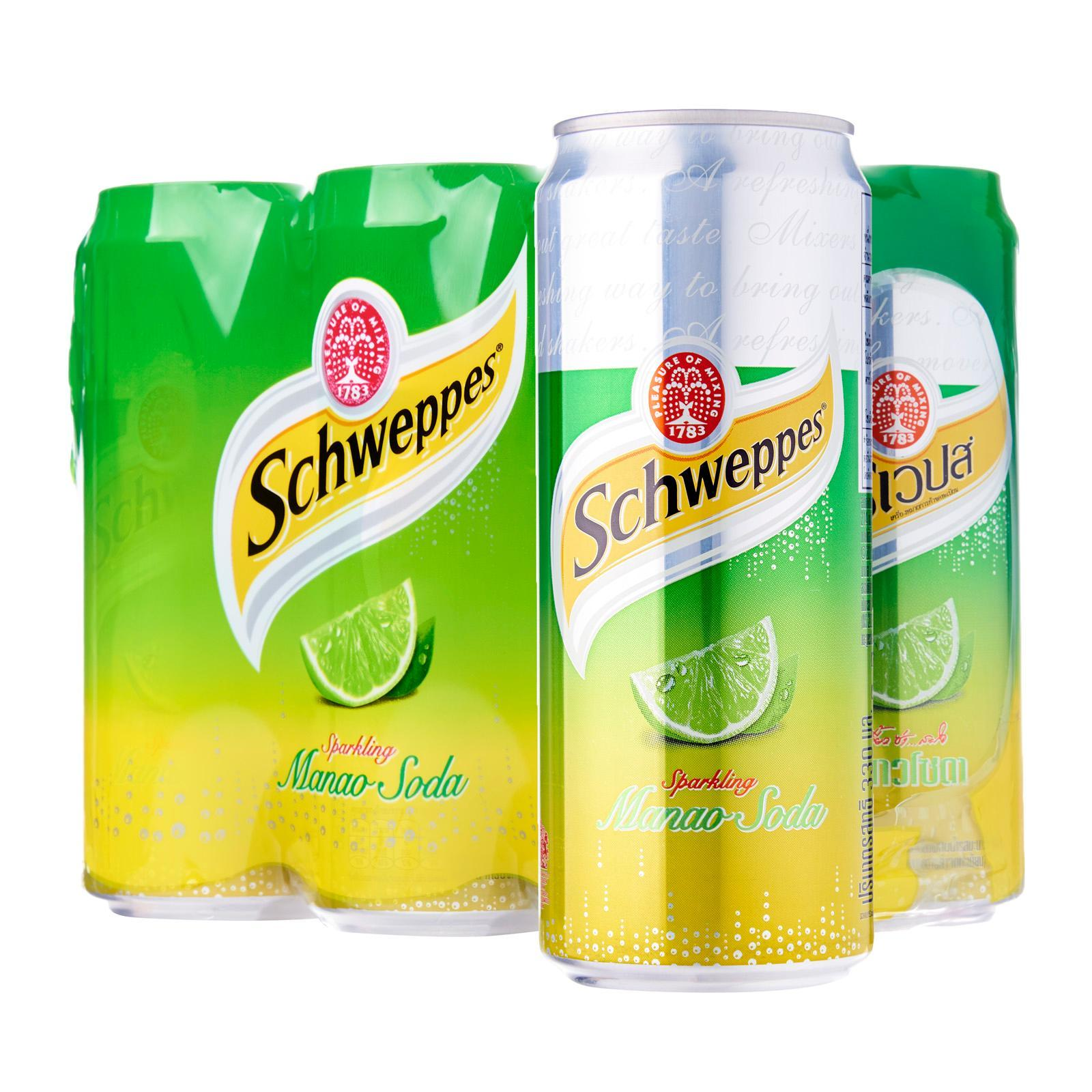 Schweppes Manao Lime Soda 330ml x 6 Cans
