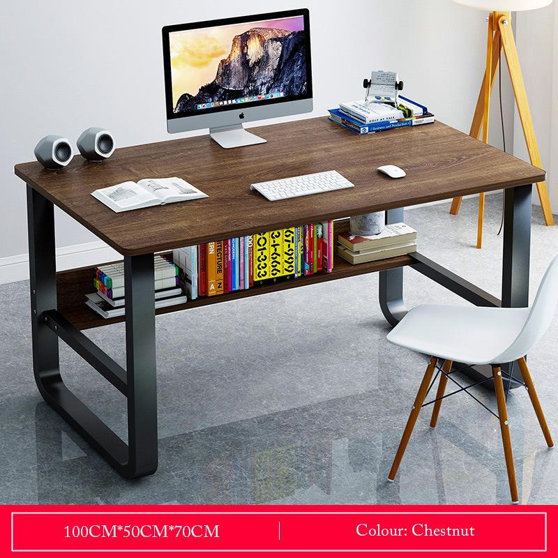 Chestnut Basic Desktop Study Table With Storage