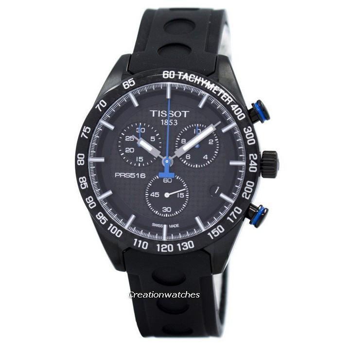 1b6058e3c Tissot PRS 516 Quartz Chronograph T100.417.37.201.00 T1004173720100 Mens  Watch
