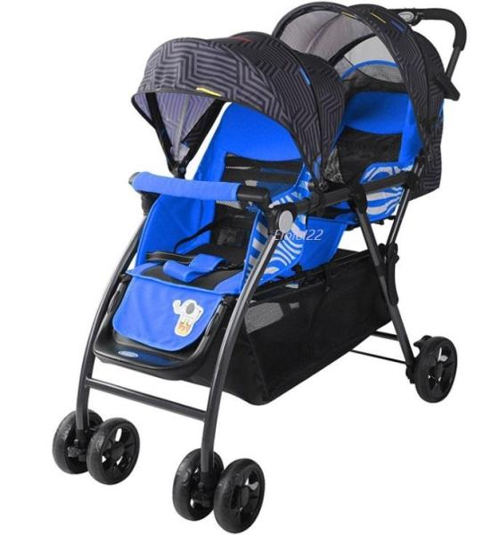 Double Stroller Twin Stroller Tandem Stroller One Hand Operation (Open / Fold) Singapore