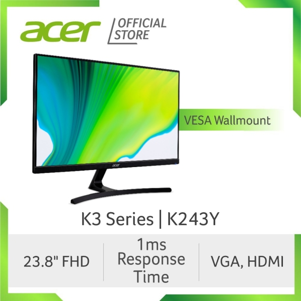 [2021 MODEL] Acer K3 Series K243Y 23.8-Inch FHD IPS Monitor with 1 MS Response Time