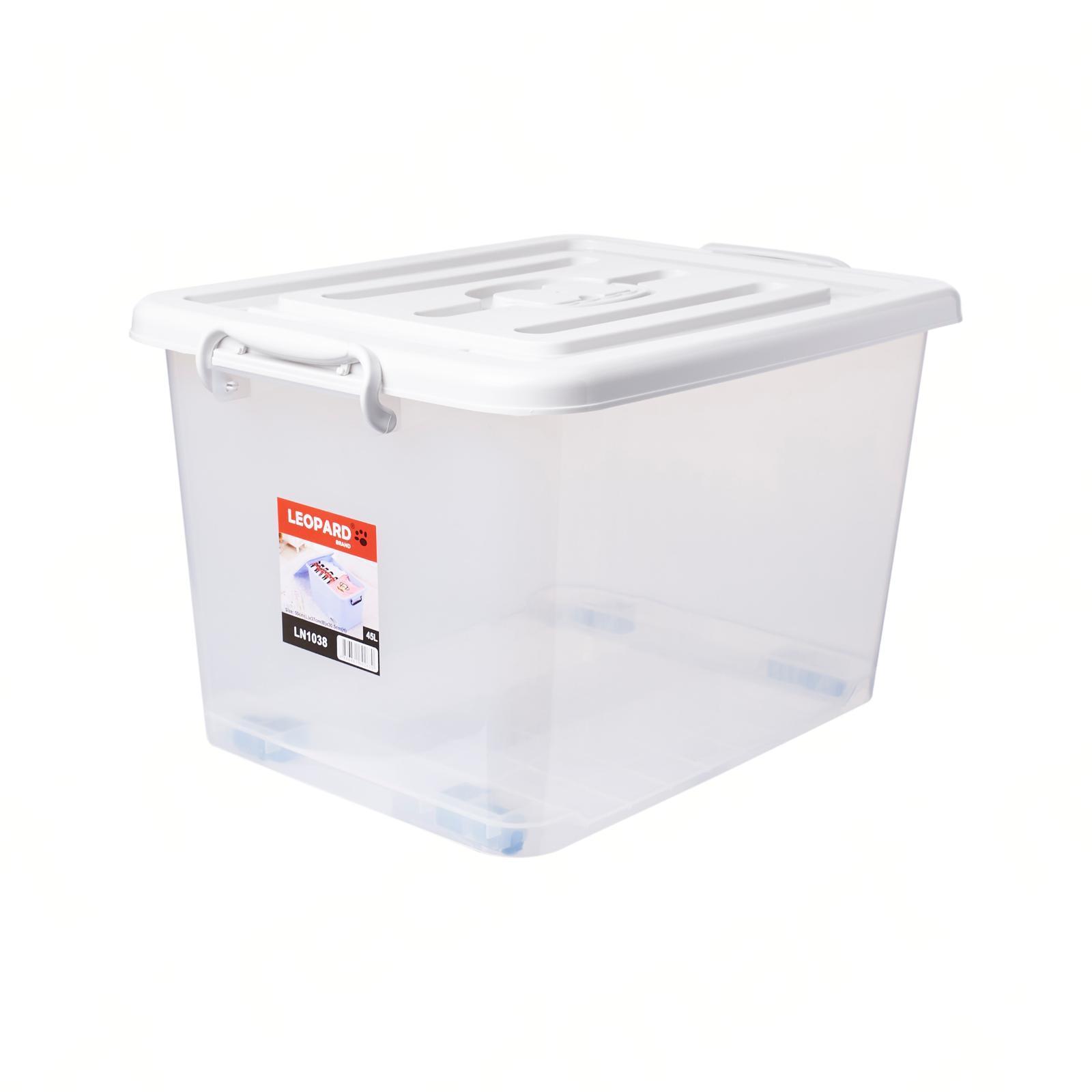 Leopard LN 1038 Storage Box With Wheels 45L
