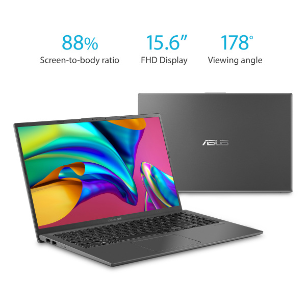 New model Asus F512DA VivoBook 15.6 FHD Ryzen 3 3200U 2.6GHz Win 10 Home S Slate Grey 8GB RAM 480GB SSD Win 10 Home  In-build Webcam [DISPLAY SET] 1 year warranty