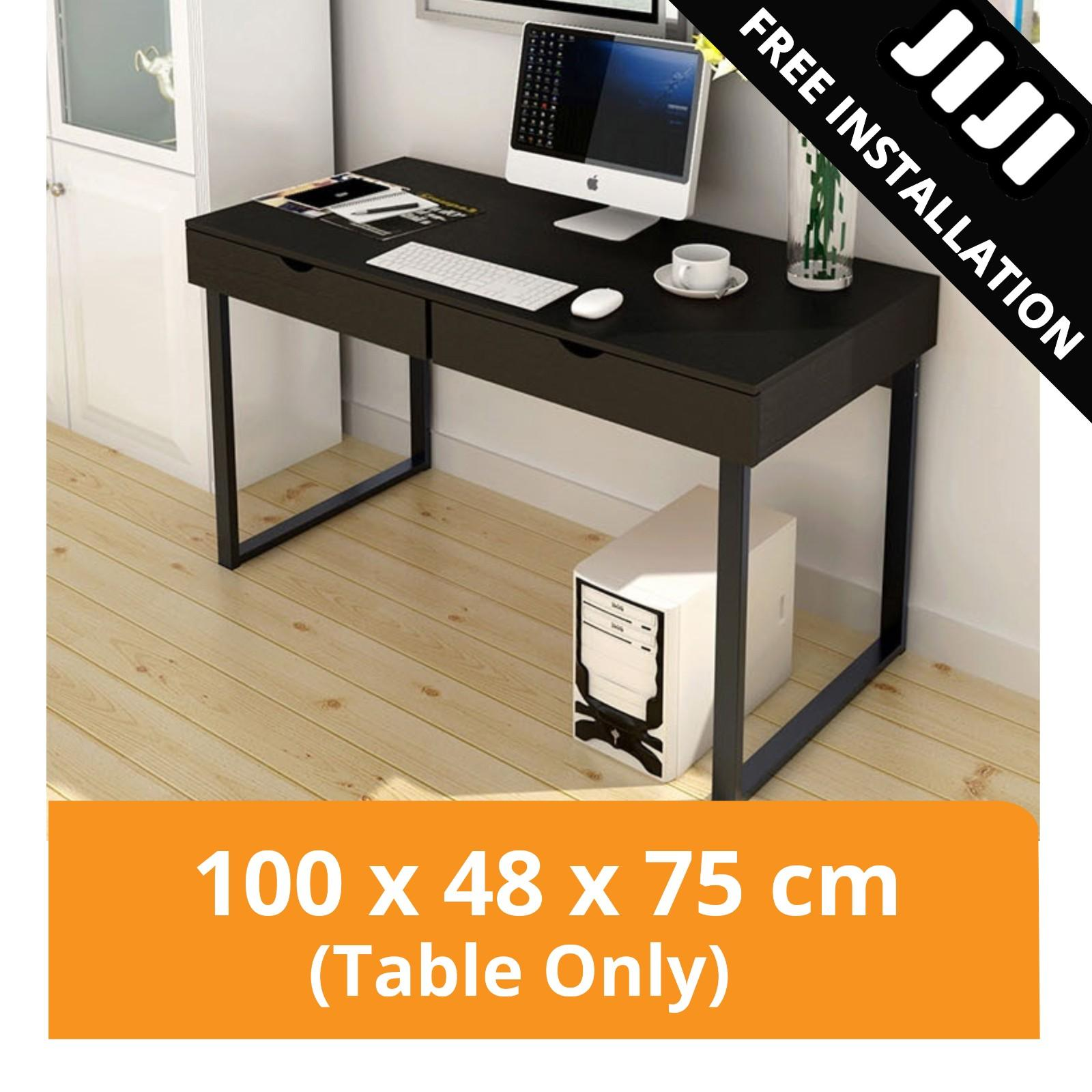 JIJI Computer Table Series: Escritor Desktop Table with Cabinets (Free Installation) - Home Office / Furniture / Office Desks (SG)