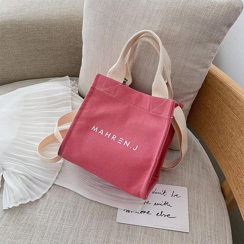 Summer Canvas Bag Womens Bag 2019 New Style Fashion Korean Style Versatile Shoulder Bag INS One-Shoulder Japanese-style Girls Small Cloth Bag