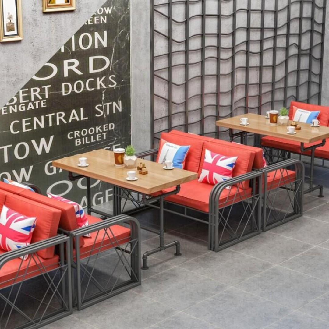 KZ 001 Cafe/Pub/Restaurant Dining Bench in Cushion-L120xW45xH45cm in Black cushion