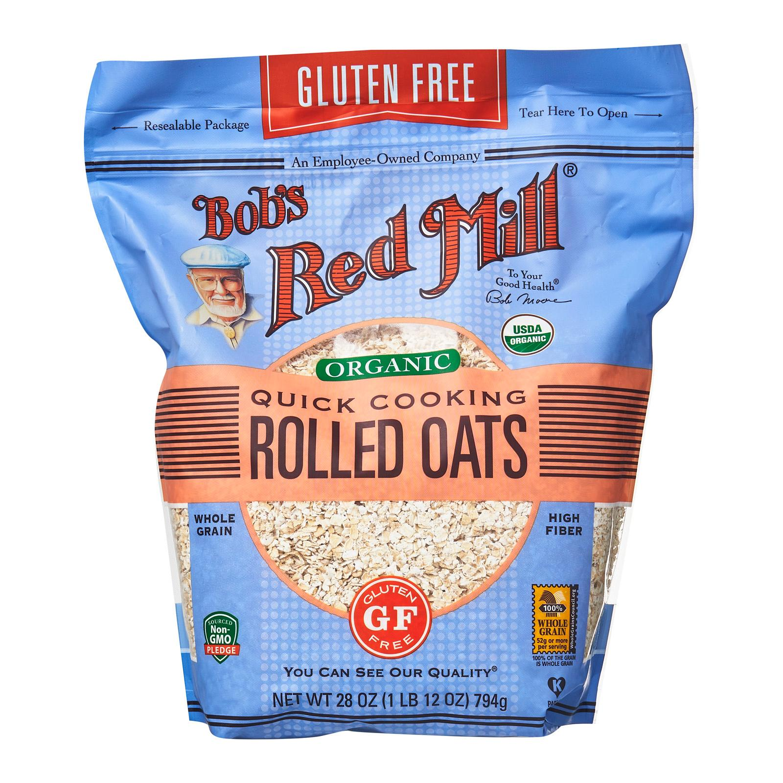 BOB'S RED MILL Gluten-Free Quick Cooking Rolled Oats Whole Grain