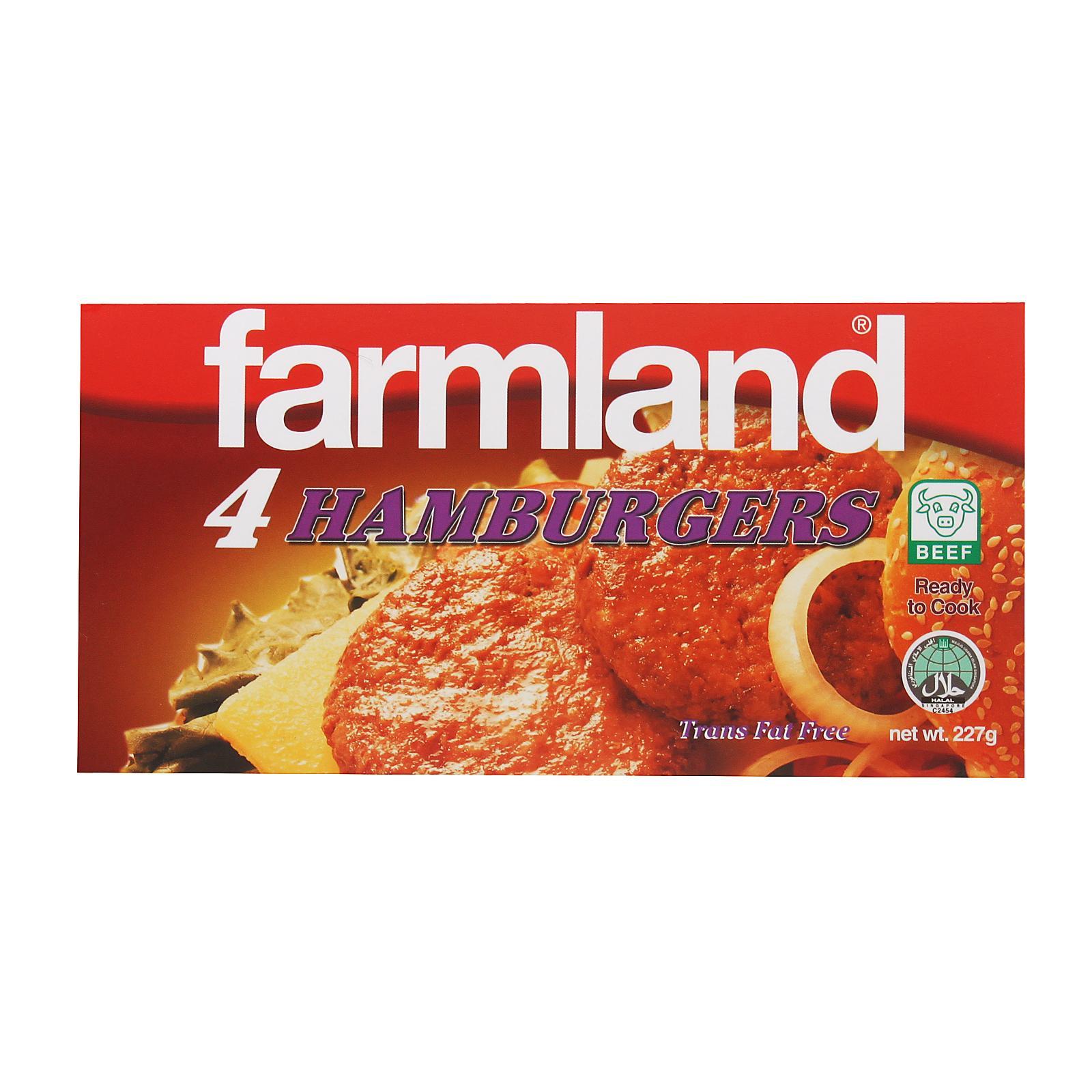 Farmland Beef Hamburger 4s - Frozen