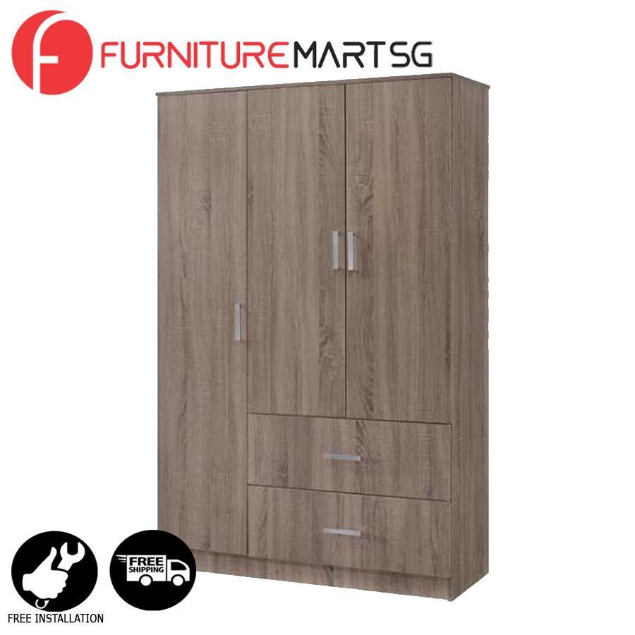 [FurnitureMartSG] BRITIAN-3D Wardrobe _FREE DELIVERY + FREE INSTALLATION