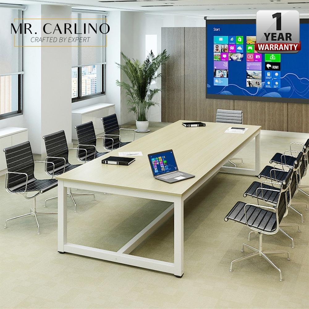 LEONARD 6-8 Person Wooden Steel Large Office Meeting Table