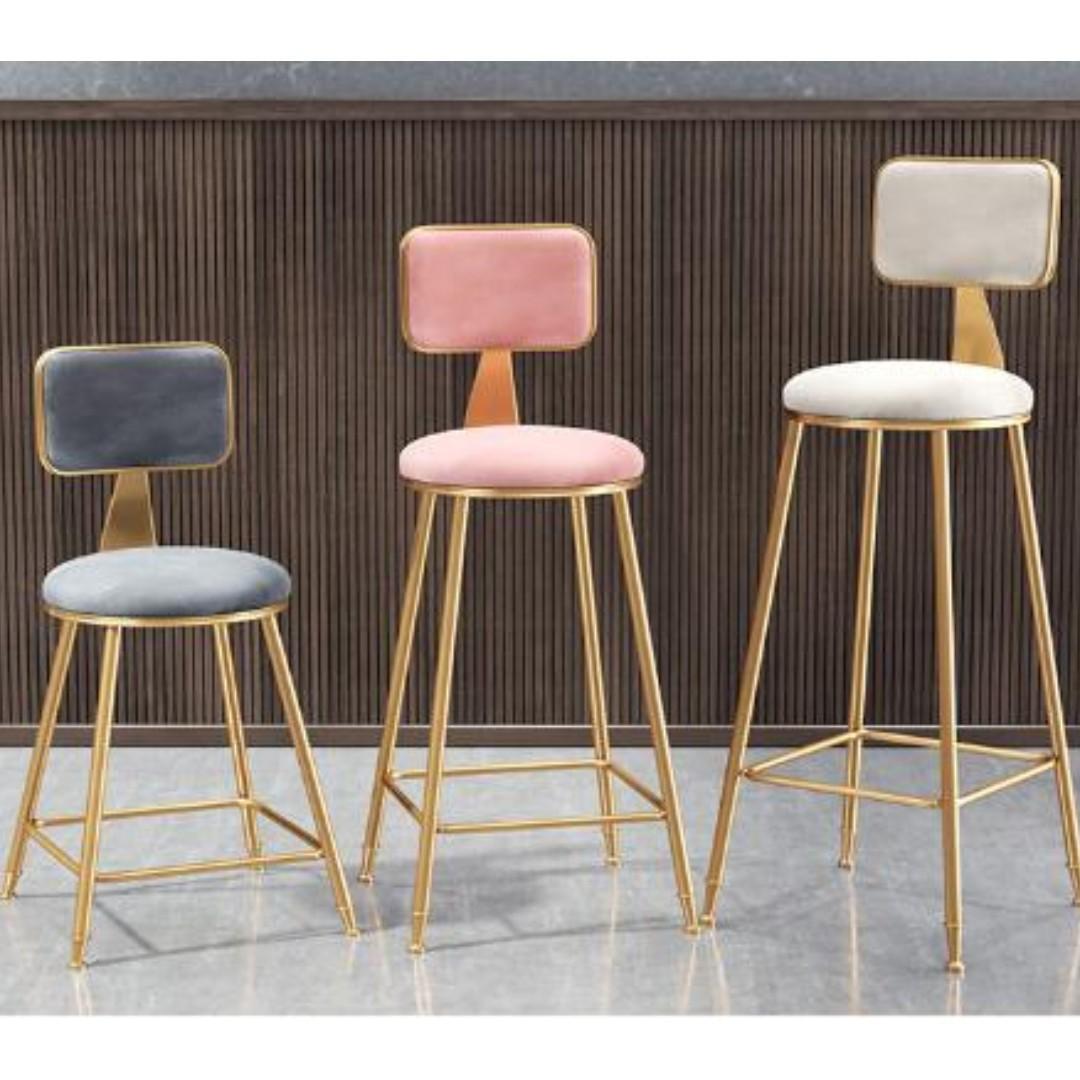 CSBC 011 High Bar Stool with Fabric Cushion,Bar Chair