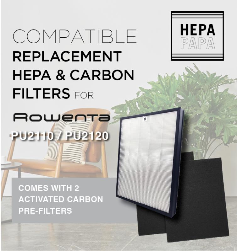 Rowneta PU2110 Rowenta PU2120 Compatible Replacement Filters [HEPAPAPA] Singapore