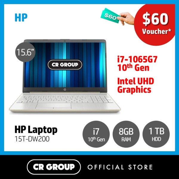 [Same Day Delivery] HP 15T-DW200 15.6 FHD | Intel i7-1065G7 | 8 GB RAM | 1 TB HDD | Intel® Iris® Plus Graphics