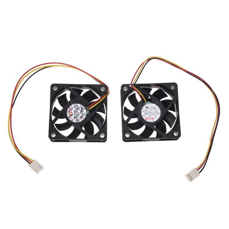 Bảng giá 60mm 6cm DC 12V 3 Pin Computer Case CPU Cooler Cooling Fan Black 2 Pcs Phong Vũ