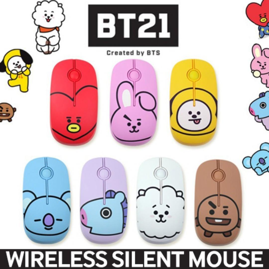 BT21 by BTS Wireless Silent Mouse