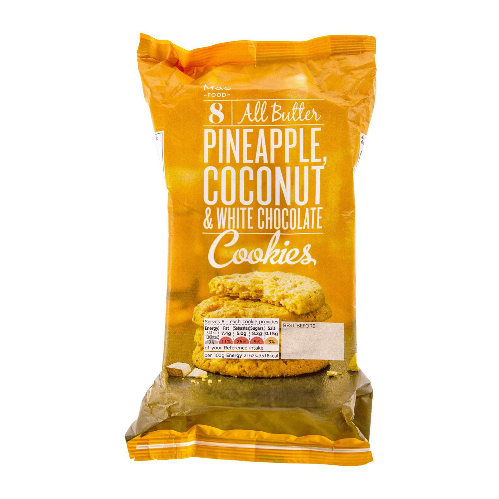 Marks & Spencer All Butter Pineapple Coconut and White Chocolate Cookies