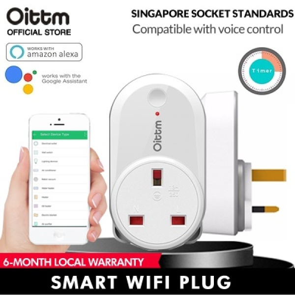 Oittm Smart Plug Smart Socket Wifi Plug Wifi Socket Wireless Timer Compatible App Control Amazon Alexa / Google Assistant