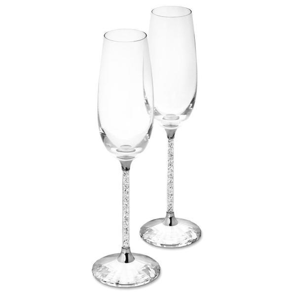 2PCS High Borosilicate Lead-Free Glass Crystal Base Rhinestone Champagne Glass European And American Style Goblet