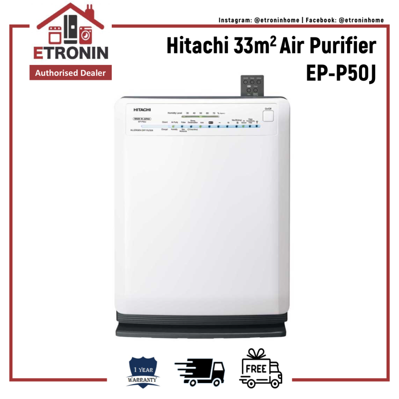 Hitachi 33m2 Air Purifier EP-P50J Singapore