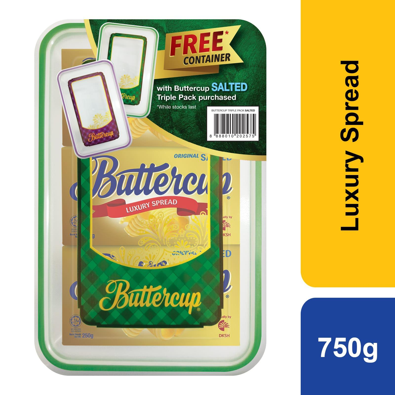 Buttercup Salted Luxury Spread Triple Pack