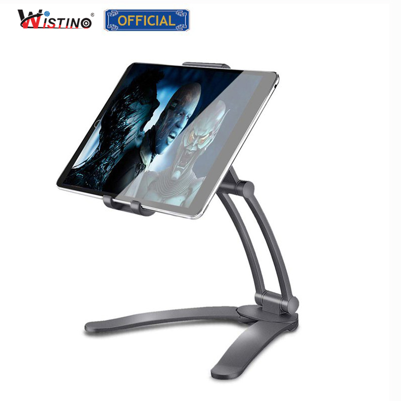 Wistino Rotating Portable Monitor Wall Desk Metal Stand Fit For Below 15.6inch monitor Tablet Mobile Phone Holders