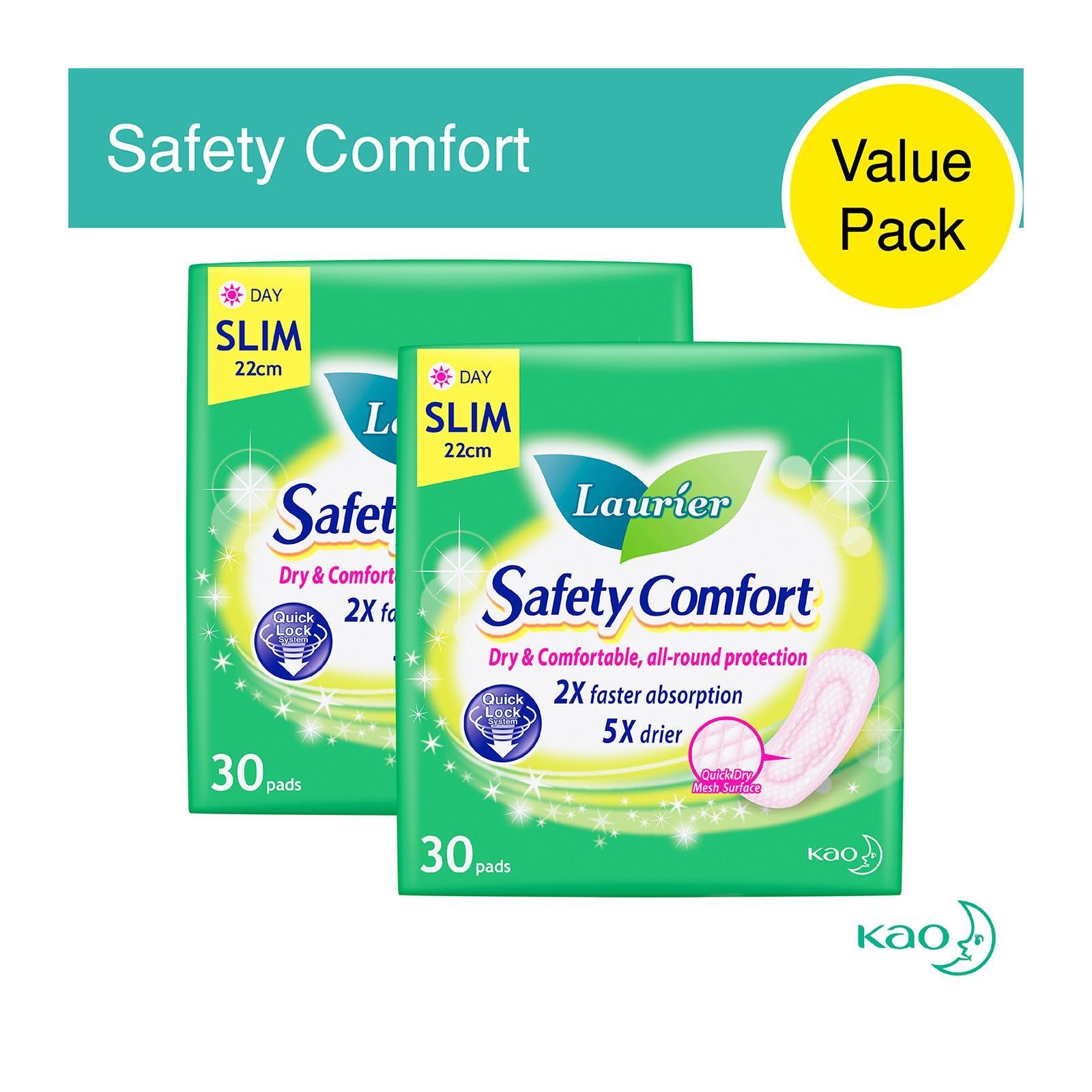 Laurier Safety Comfort Slim Non-Wing Sanitary Pads 22.5cm