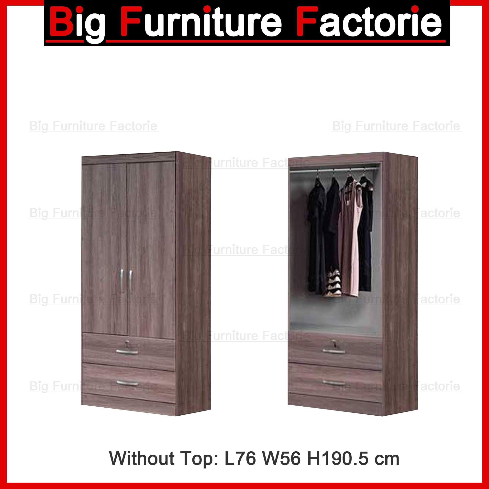 BFF-A2A Two Door Wardrobe no Top
