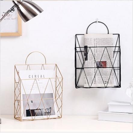 MissHer Organiser/ Metal /A4 Magazine/newspaper Storage Basket portable Multifunctional Storage Basket  SB24