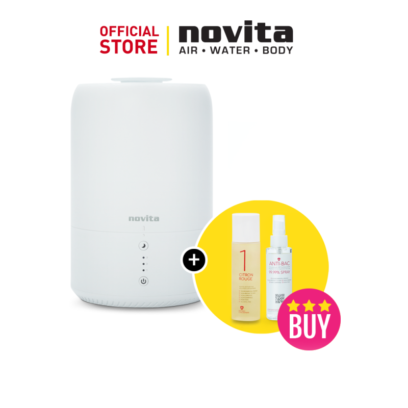 novita Humidifier NH810 Bundle with Air Purifying Solution Concentrate & Anti-Bac Spray Singapore