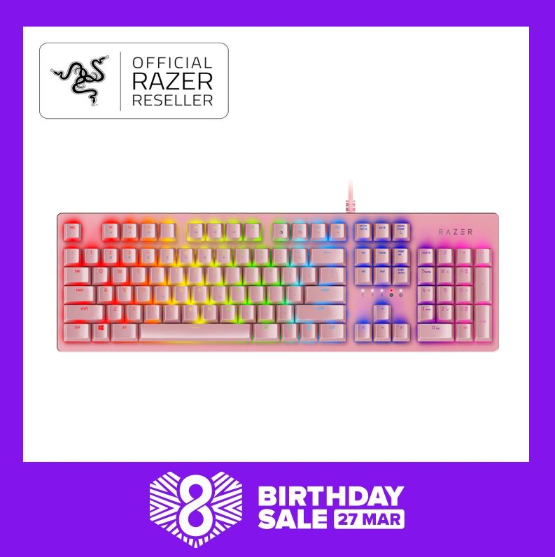 Razer Huntsman – Opto-Mechanical Gaming Keyboard Quartz Singapore