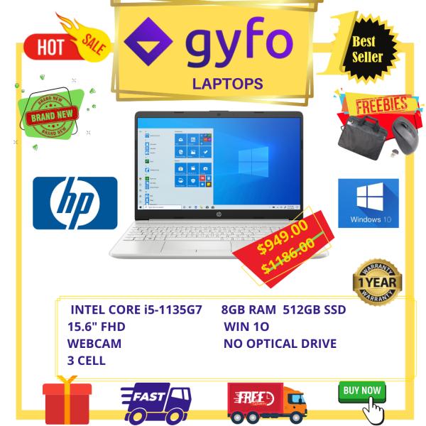 HP 15-DW3005WM / INTEL CORE i5-1135G7 / 8GB RAM / 512GB RAM / 15.6 FHD / WIN 10 / 1YR SG HP WARRANTY